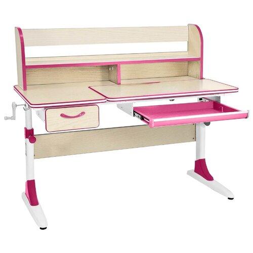 Парта Для Школьника Anatomica Study-120 Lux клен/розовый комплект anatomica smart 60 парта study 120 lux кресло armata duos надстройка органайзер ящик клен серый зеленый