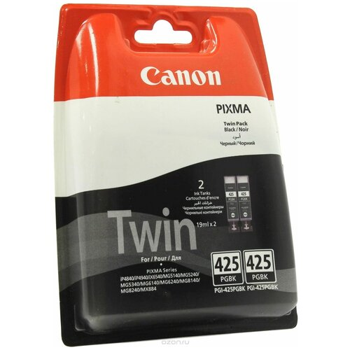 Фото - Набор картриджей Canon PGI-425PGBK Twin Pack (4532B005/4532B007) набор картриджей canon pgi 29 mbk pbk dgy gy lgy co для pro 1 4868b018
