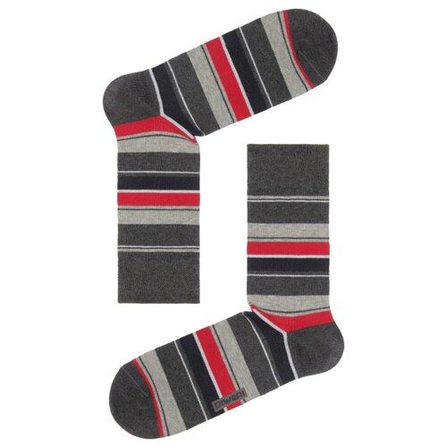 Фото - Носки Happy 15С-23СП 056 Diwari, 29 размер, темно-серый/бордовый носки мужские стильная шерсть цвет темно серый белый 618 1с47 125 размер 29