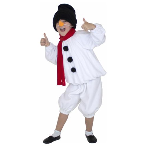 Купить Костюм Вестифика Снеговичок (104 068), белый, размер 128-134, Карнавальные костюмы