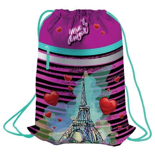 Купить Berlingo Мешок для обуви Mon amour (MS09331) фиолетовый, Мешки для обуви и формы