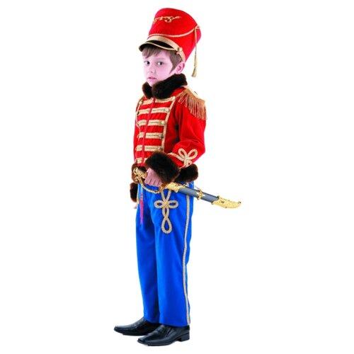 Купить Костюм Батик Гусарский офицер (904), красный/синий, размер 158, Карнавальные костюмы