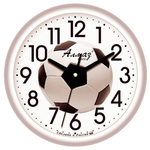 Часы настенные кварцевые Алмаз B26 серый часы настенные кварцевые алмаз e66 серый