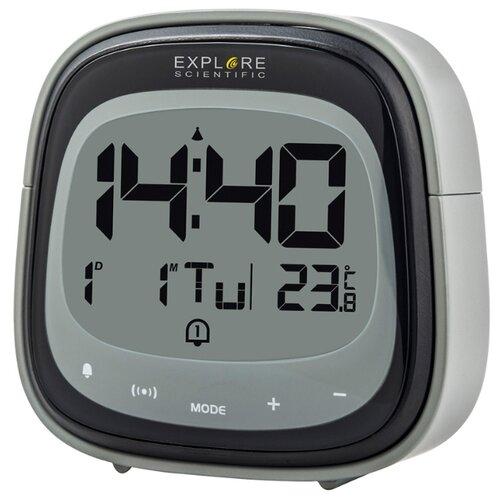 Часы цифровые Explore Scientific Dual с будильником черные