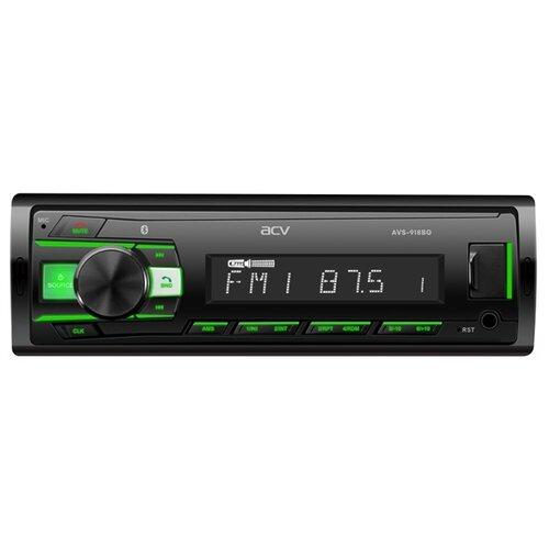 Автомагнитола ACV AVS-918BG, Bluetooth/поддержкой ACV RC и ACV Control/зеленая подсветка