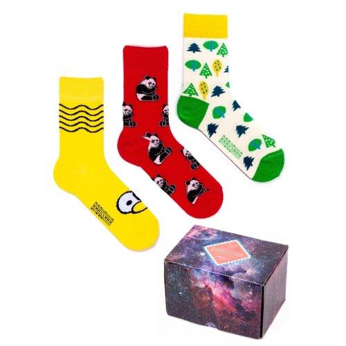 Цветные носки Babushka, набор носков с принтом, 3 пары в коробке, размер 36-39, CGB-7