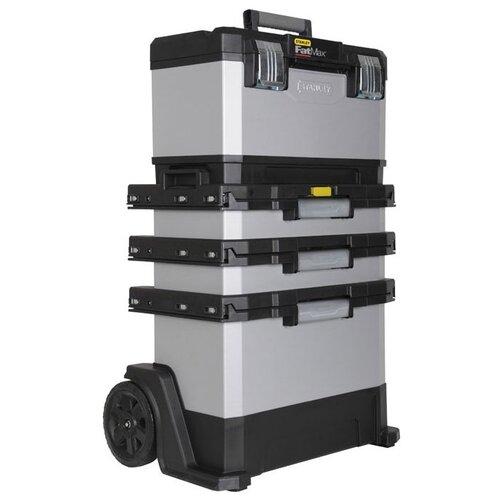 Ящик-тележка STANLEY FatMax Rolling Workshop 1-95-622 89.3x56.8x38.9 см серый/черный ящик тележка stanley 1 92 904 pro mobile tool chest 59x37x42 см черный желтый
