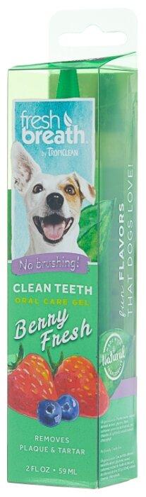 Гель Tropiclean Fresh Breath для чистки зубов ягодный для собак 59 мл