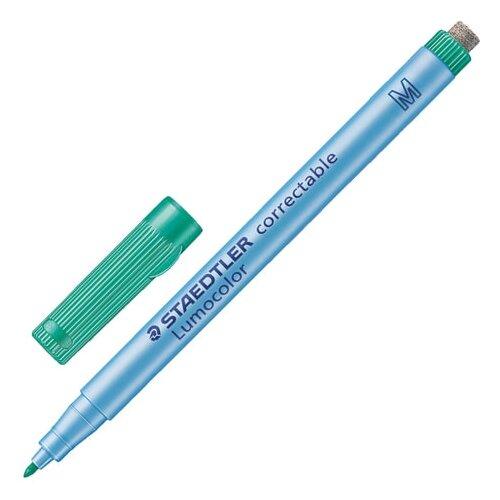 Фото - Маркер универсальный Staedtler для любой гладкой поверхности, со стирателем, 1 мм, зеленый (305M-5) маркер для доски staedtler 301 5 1 мм зеленый