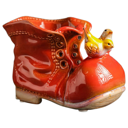 Кашпо Take It Easy Ботинок с птичками 13 х 8 х 10 см красный по цене 449