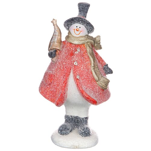 Фигурка Lefard Снеговик 100-826 красный
