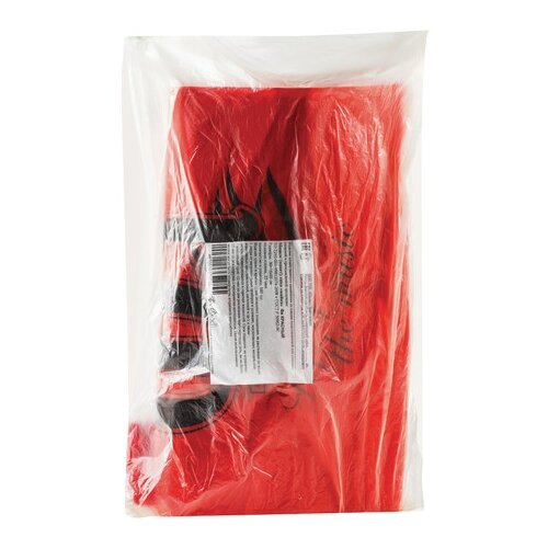 Пакет-майка Юпласт Fa 30(+16)х55 см, 25 мкм красный 100 шт.