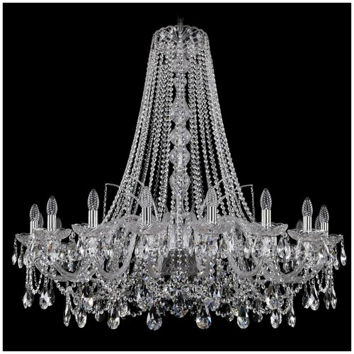Фото - Люстра Bohemia Ivele Crystal 1411/18/400/h-113/Ni, E14, 720 Вт люстра bohemia ivele crystal 1411 1411 12 6 300 h 94 g e14 720 вт