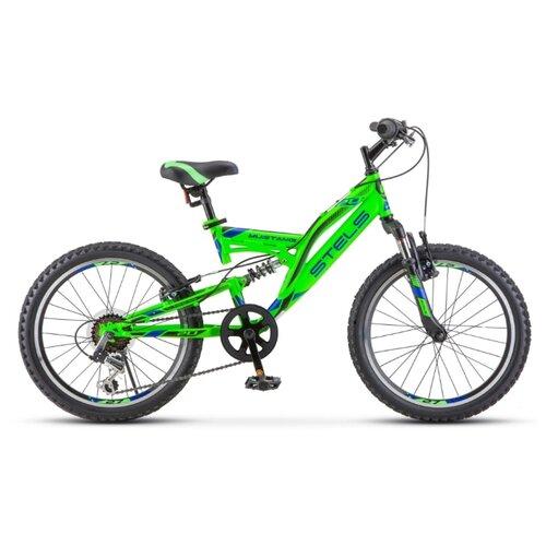 Велосипед STELS Mustang V 20 (V010) 13 зелёный велосипед stels 2612 v