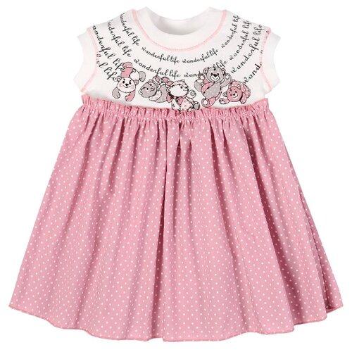 Платье Мамуляндия размер 80, белый/розовый