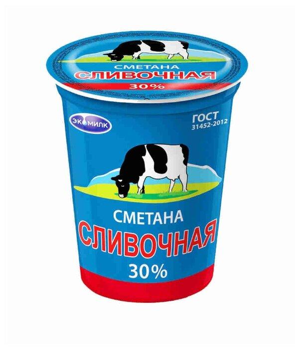 Экомилк Сметана 30%