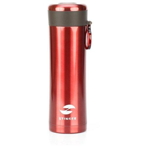 Термокружка STINGER HW-420-32, 0.42 л матовый красный