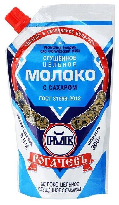 Сгущенное молоко Рогачевский молочноконсервный комбинат цельное с сахаром 8.5%, 300 г