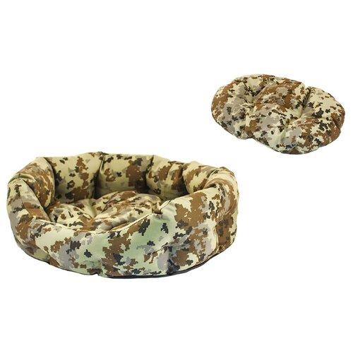 Лежак для собак и кошек Дарэлл Хантер-Медведь 2 50х40х16 см коричневый/светло-зеленый