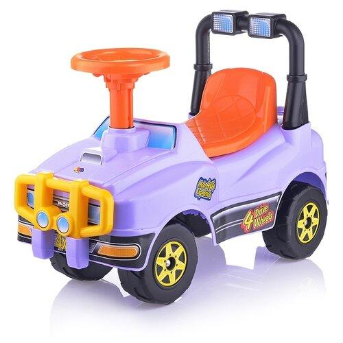 Купить Автомобиль-каталка Полесье Джип №4 (сиреневый) (71958), Каталки и качалки