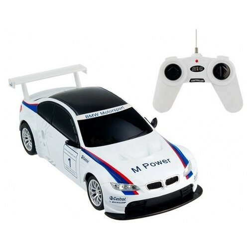 Легковой автомобиль Rastar BMW M3 (48300) 1:24 20 см белый/черный
