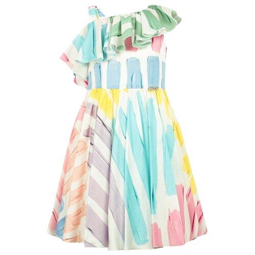 Платье Lesy размер 152, белый/разноцветный