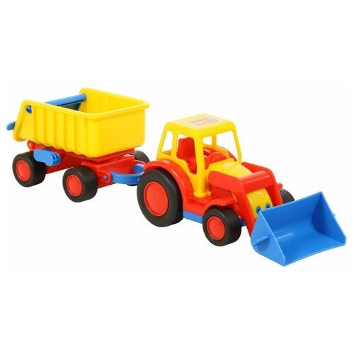 Трактор Wader с прицепом Базик (37657) 41 см погрузчик wader базик 37626 22 см
