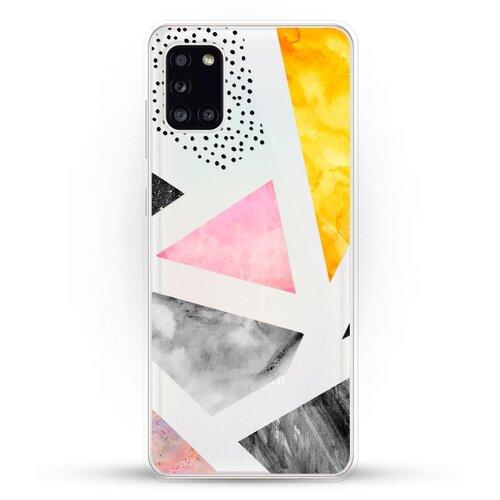 Силиконовый чехол Мраморные треугольники на Samsung Galaxy A31