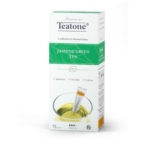 Чай зеленый Teatone с ароматом жасмина в стиках, 15 шт. earl grey чёрный чай с ароматом бергамота teatone в стиках для разовой заварки 100шт 1 8г