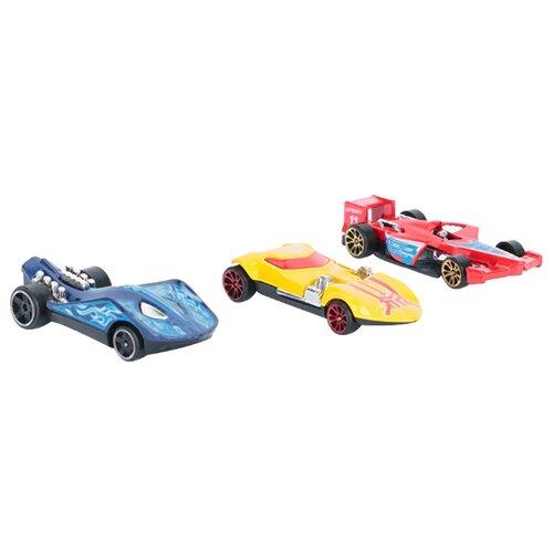 Купить Набор машин Maxi Car i-F878-3 1:64 7.5 см желтый/синий/красный, Машинки и техника