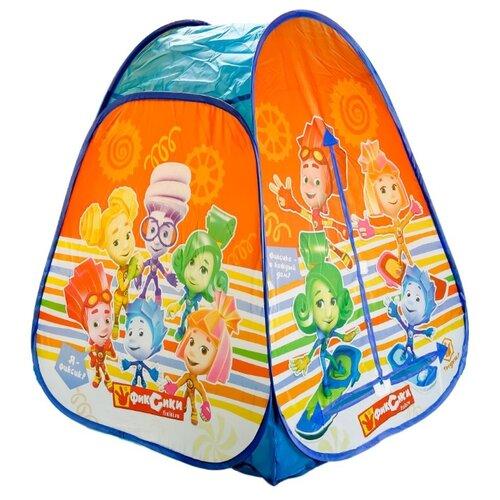 Купить Палатка Играем вместе Фиксики конус в сумке GFA-FIX01-R оранжевый/ синий, Игровые домики и палатки