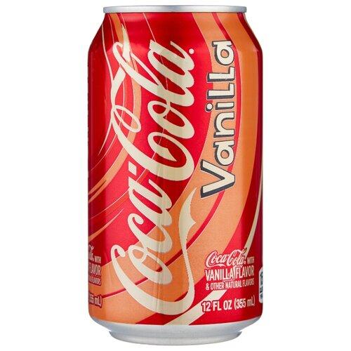 Газированный напиток Coca-Cola Vanilla, США, 0.355 л газированный напиток coca cola vanilla сша 0 355 л 12 шт