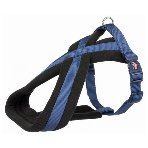 Фото - Шлейка для собак Trixie Premium Touring, размер: S-M, 40–60 см, 20 мм, синий шлейка для собак trixie premium touring размер s m 40–60 см 20 мм бежевый