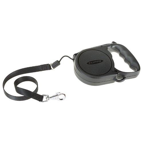 Поводок-рулетка для собак Ferplast Flippy Regular Large черный 5 м поводок рулетка для собак ferplast amigo tape s серый 5 м