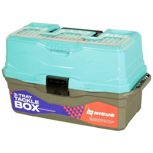Ящик для рыбалки Nisus N-TB-3 44.5х25х22 см бирюзовый