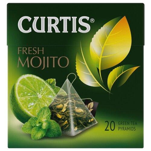 Чай зеленый Curtis Fresh Mojito в пирамидках, 34 г, 20 шт. flavoring for deflector автопрофи mentos mr pilot fresh mojito fresh mojito 17g mnt100