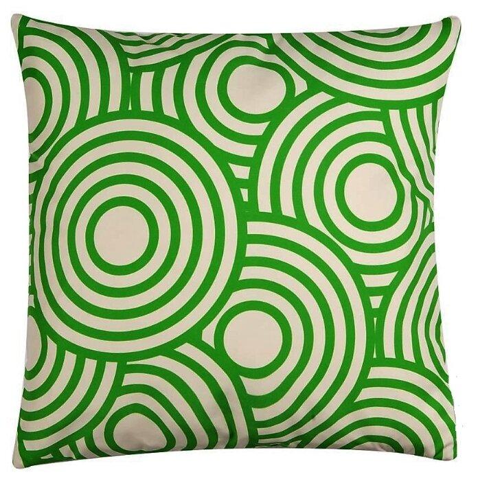 """Чехол для декоративной подушки """"Зеленые круги"""""""