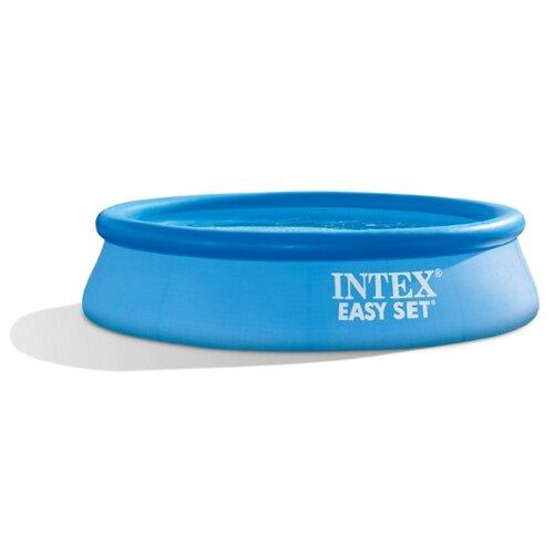 Фото - Бассейн INTEX 28108 EASY SET, 244х61см, фильтр-насос 1250л/ч бассейн intex intex easy set 244х61 см 1942 л фил насос 1250 л ч
