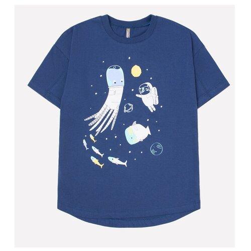 Фото - Футболка crockid, размер 122, темно-синий к248 футболка crockid размер 122 леденец