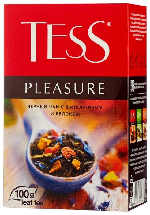 Черный листовой чай Tess Pleasure 100г