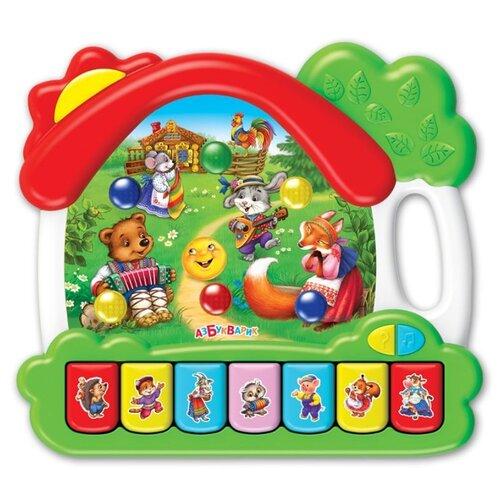 Развивающая игрушка Азбукварик Музыкальный домик Сказки зеленый