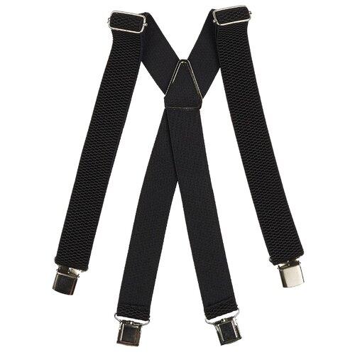 Фото - Подтяжки мужские X, ширина 35 мм, рифленые, цвет: чёрный подтяжки stilmark рифленые mono