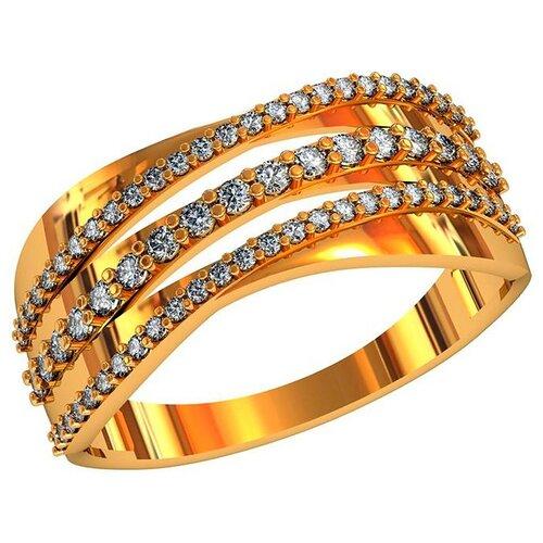Фото - Приволжский Ювелир Кольцо с 69 фианитами из серебра с позолотой 262390-FA11, размер 19 приволжский ювелир кольцо с 65 фианитами из серебра с позолотой 252119 fa11 размер 19 5