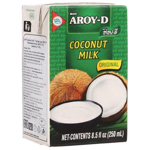 Молоко кокосовое Aroy-D Original 19%, 250 мл готовый суп aroy d том ям 400 мл
