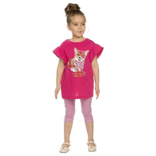 цена на Комплект одежды Pelican размер 3, малиновый