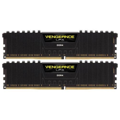 Оперативная память Corsair Vengeance LPX 16GB (8GBx2) DDR4 3200MHz DIMM 288-pin CL16 CMK16GX4M2B3200C16 память оперативная ddr4 corsair 16gb 3200mhz cm4x16gc3200c16w2e