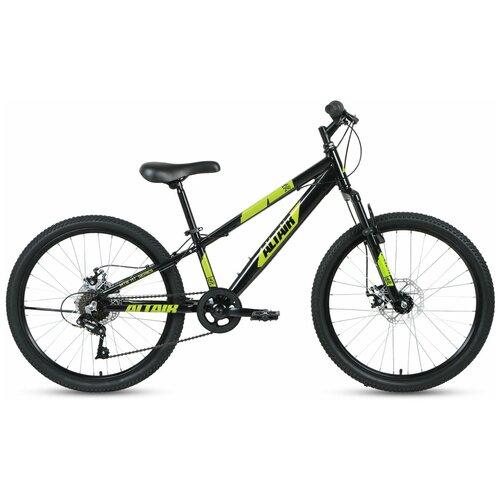 """Подростковый горный (MTB) велосипед ALTAIR AL 24 D (2020) черный 12.5"""" (требует финальной сборки)"""