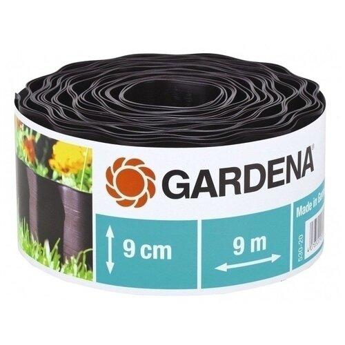 Бордюрная лента GARDENA 530-20/532-20/534-20/536-20/538-20/540-20, 9 х 0.09 м, черный