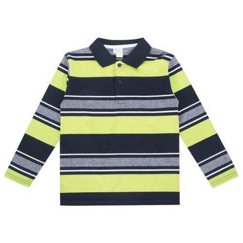 Купить Поло Fun time размер 122, зеленый/серый/черный, Футболки и майки
