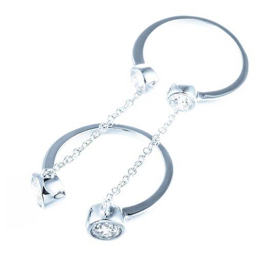ELEMENT47 Кольцо из серебра 925 пробы с кубическим цирконием ML02259B_KO_001_WG, размер 17